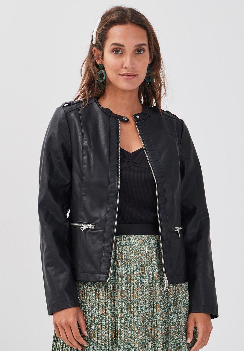 Cache Cache - MIT REISSVERSCHLUSS - Faux leather jacket - black