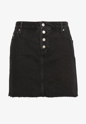 HIGH RISE MINI SKIRT - Jeansskjørt - black shank