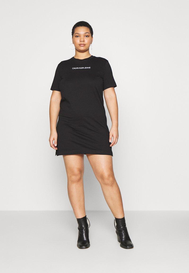 Calvin Klein Jeans Plus - INSTITUTIONAL DRESS - Jersey dress - black