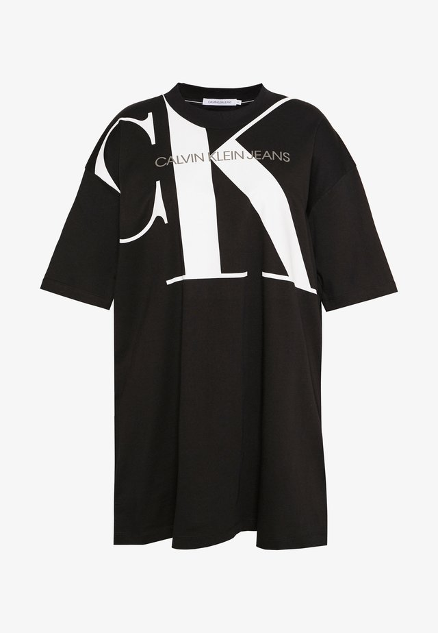 PLUS LARGE  - Jersey dress - black