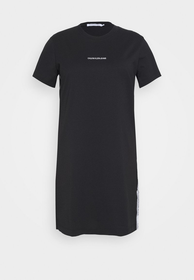 Calvin Klein Jeans Plus - PLUS TAPE DRESS - Sukienka z dżerseju - black