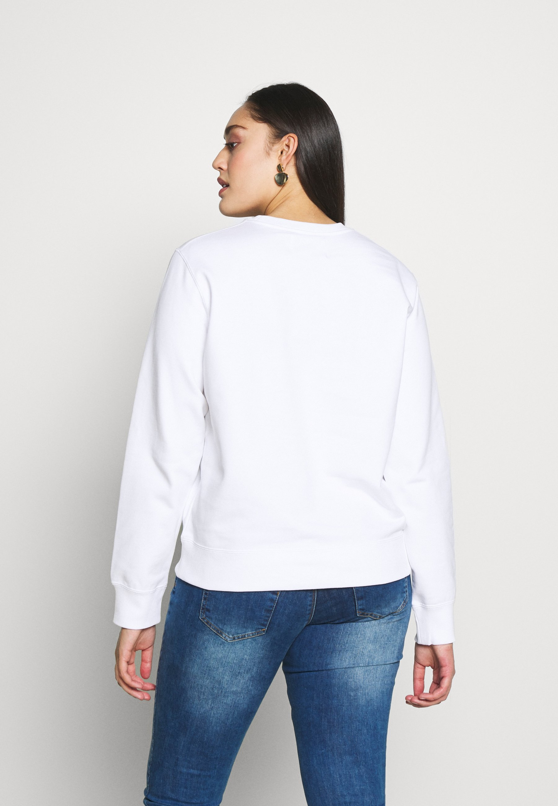 Calvin Klein Jeans Plus Institutionalcrew Neck - Sweatshirt Bright White