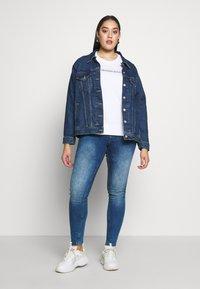 Calvin Klein Jeans Plus - INSTITUTIONALCREW NECK - Sweatshirt - bright white - 1