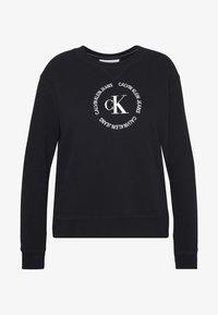 Calvin Klein Jeans Plus - PLUS ROUND LOGO RELAXED  - Sweatshirt - black - 3