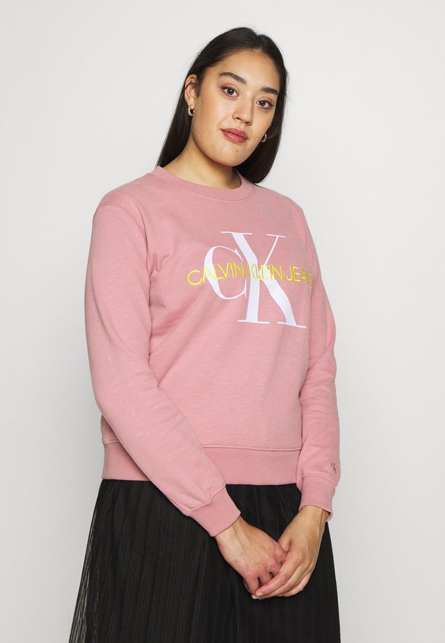 VEGETABLE MONOGRAM  - Sweatshirt - brandied apricot