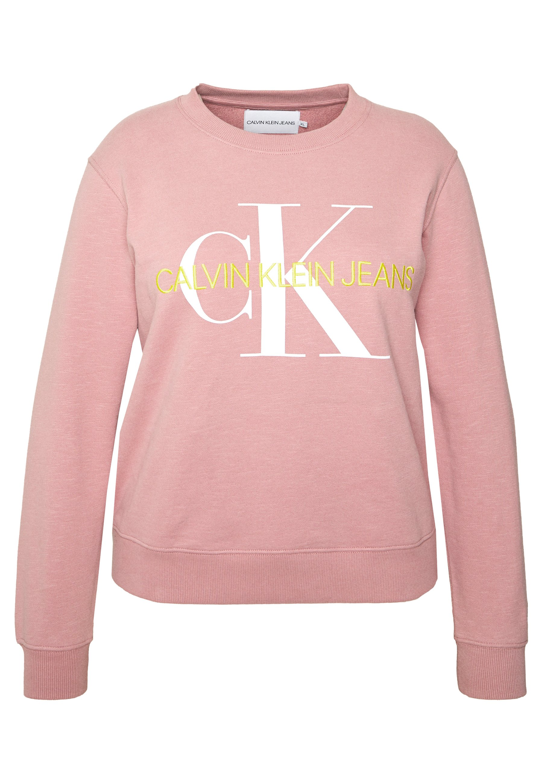 Calvin Klein Jeans Plus VEGETABLE MONOGRAM  - Bluza - brandied apricot