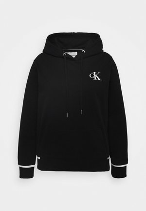 PLUS EMBROIDERY HOODIE - Huppari - black