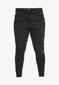 Calvin Klein Jeans Plus - PLUS HIGH RISE SKINNY ANKLE - Jeans Skinny Fit - black - 5