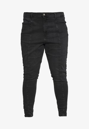 PLUS HIGH RISE SKINNY ANKLE - Skinny džíny - black