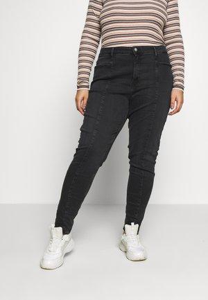 PLUS HIGH RISE SKINNY ANKLE - Skinny džíny - black