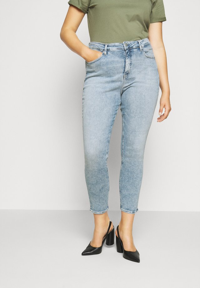 HIGH RISE - Skinny džíny - dark-blue denim
