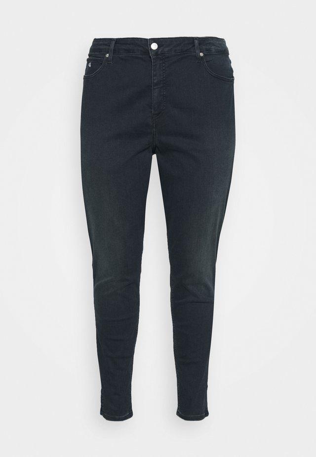 HIGH RISE ANKLE - Skinny džíny - dark-blue denim