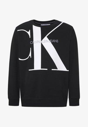 PLUS UPSCALE MONOGRAM CREW NECK - Sweatshirt - black