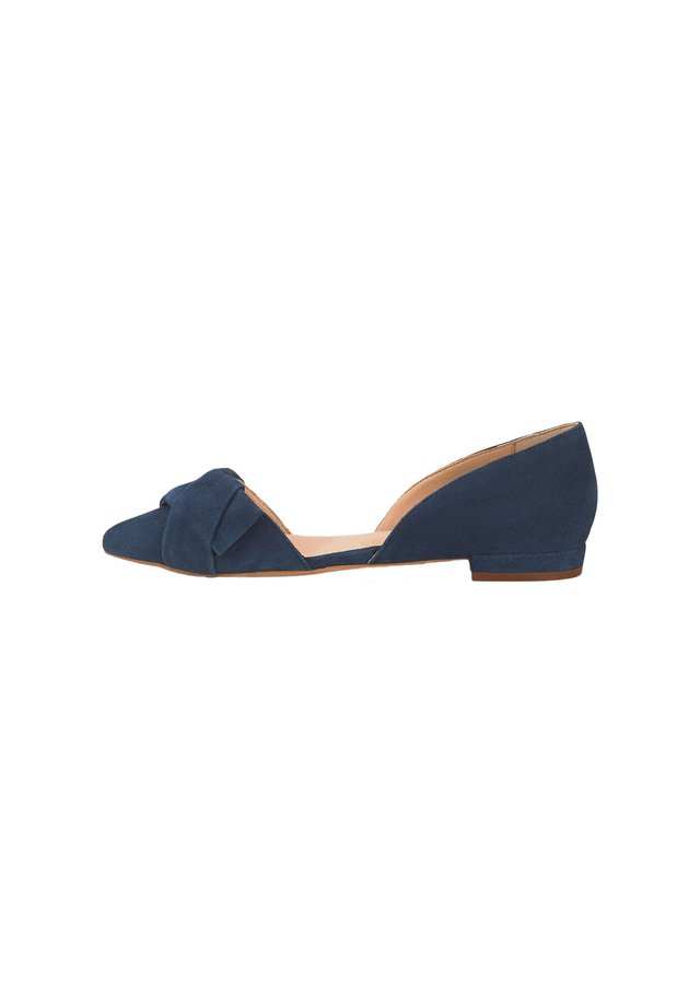 TREND - Peeptoe ballet pumps - blau-dunkel