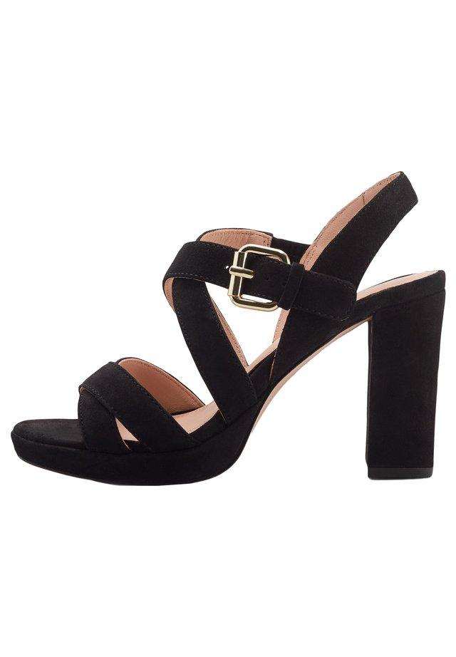 Højhælede sandaletter / Højhælede sandaler - schwarz
