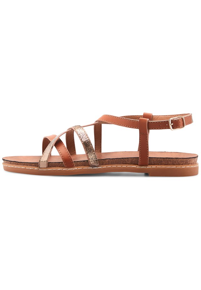 TREND - Sandals - mittelbraun