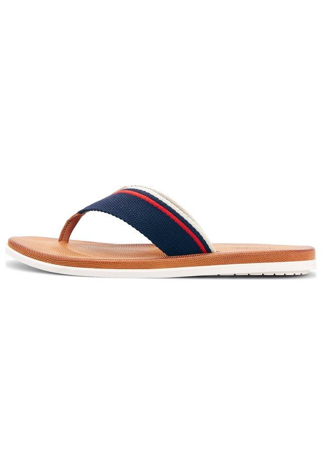 TREND - T-bar sandals - mittelbraun