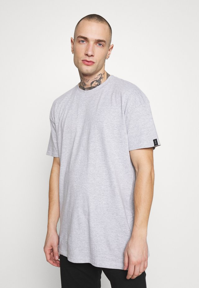 UNISEX BOX FIT FLASH TEE - Triko s potiskem - grey marl