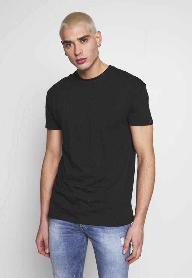 UNISEX BOX FIT FLASH TEE - T-shirt basique - black