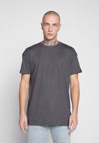 Common Kollectiv - BOX FIT FLASH TEE - T-shirt imprimé - charcoal - 0