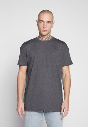BOX FIT FLASH TEE - T-shirt med print - charcoal
