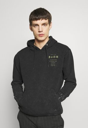 UNISEX BACK PRINTED TOUR HOODIE - Hoodie - black
