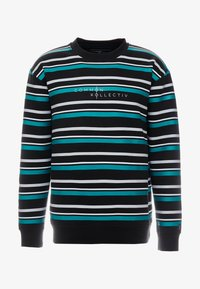 Common Kollectiv - STRIPED GOLF CREW NECK - Mikina - black - 4