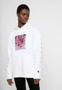 Common Kollectiv - UNISEX SLEEVE PRINTED BLOCK HOODIE - Jersey con capucha - white - 1