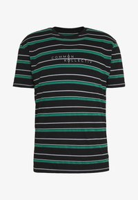 Common Kollectiv - UNISEX STRIPED GOLF TEE - Triko s potiskem - black
