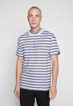 UNISEX STRIPED LOGO PRINTED WHIP TEE - Print T-shirt - blue