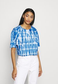 Common Kollectiv - TIE DYE SWIM TEE - T-shirt imprimé - blue - 3