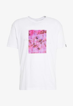 UNISEX LOGO PRINTED BLOCK TEE - Print T-shirt - white