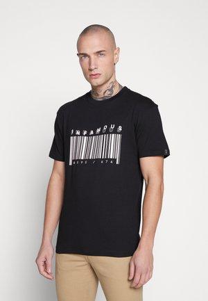 UNISEX PRINTED SLOGAN CASH TEE - Camiseta estampada - black