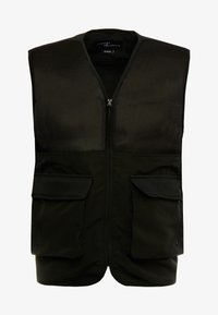 Common Kollectiv - UNISEX UTILITY BELTED RATTLE VEST - Vesta - black - 5