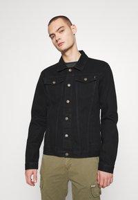 Common Kollectiv - UNISEX DISTRESS JACKET - Denim jacket - black - 0