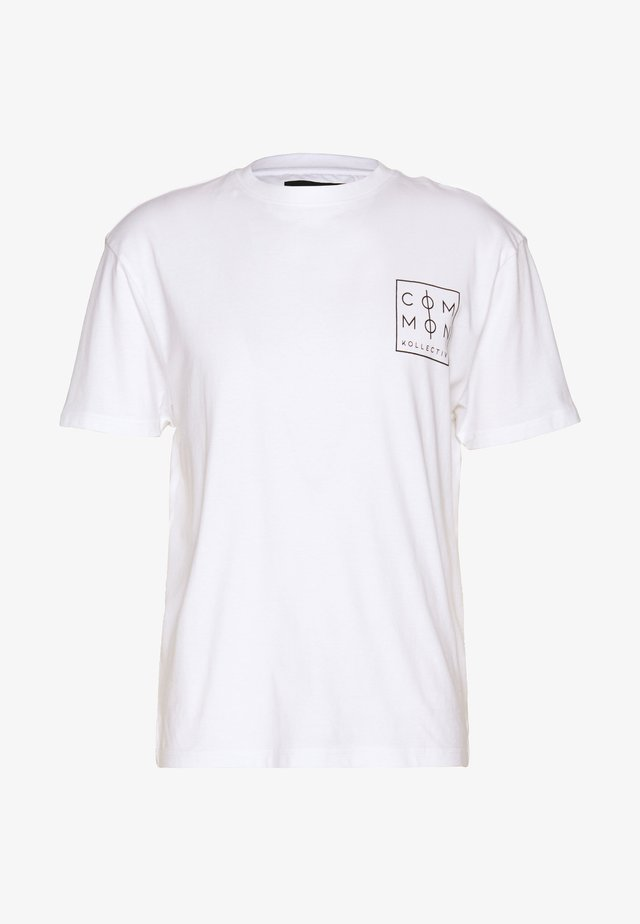 UNISEX ZONE  - Print T-shirt - white