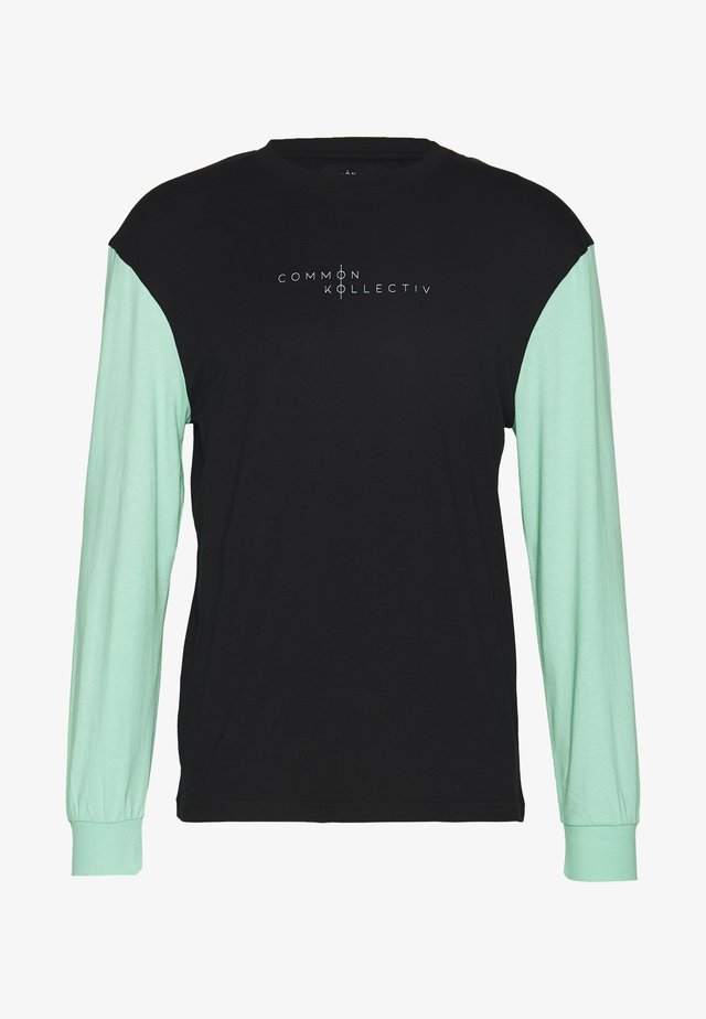 UNISEX MOTIV LONGSLEEVE - Print T-shirt - black