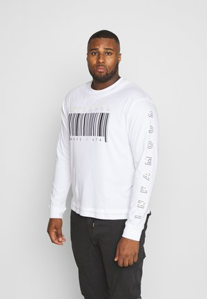 PLUS LONG SLEEVE SLOGAN PRINTED ARCADE TEE - Longsleeve - white