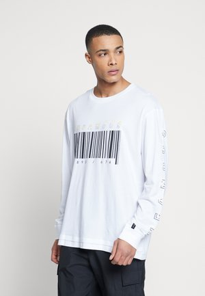 PLUS LONG SLEEVE SLOGAN PRINTED ARCADE TEE - Long sleeved top - white