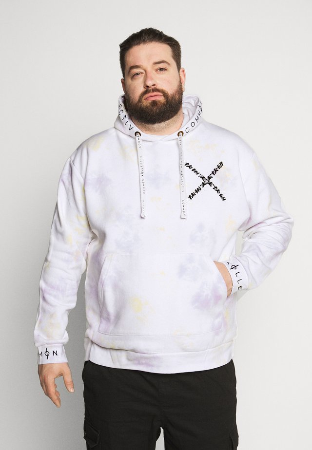 PLUS MARK HOODIE IN UNISEX TIE DYE - Huppari - lilac