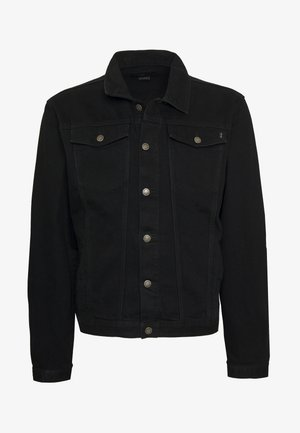 PLUS DISTRESSED JACKET - Spijkerjas - black