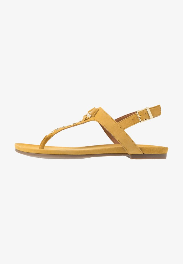 JENNA - T-bar sandals - yellow