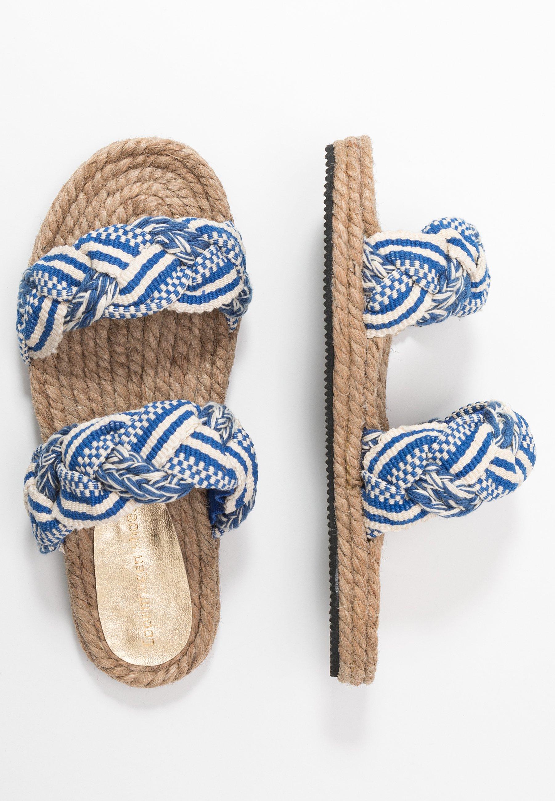 Copenhagen Shoes Muiltjes - Navy Goedkope Schoenen