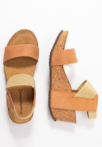Copenhagen Shoes - DANIELA  - Platåsandaletter - cognac - 3