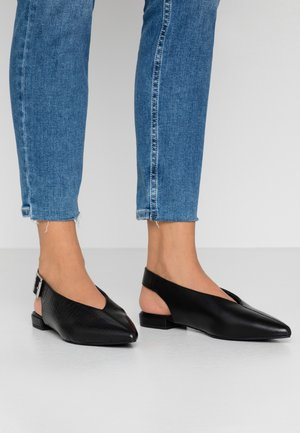 JULIE - Slingback ballet pumps - black
