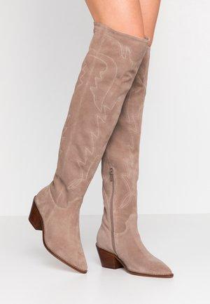 ROSI - Kozačky nad kolena - beige