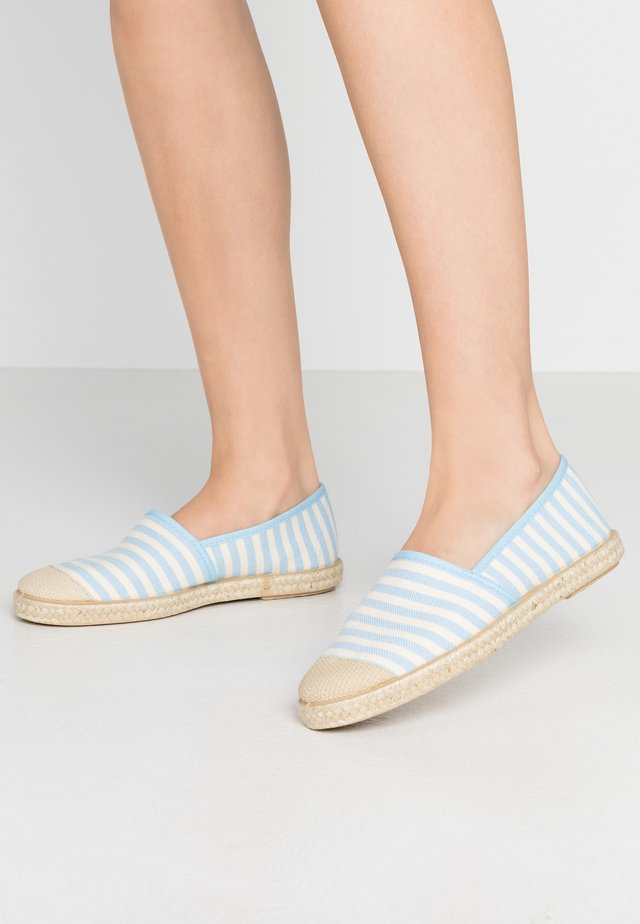 FLORENCE STRIPES - Espadrilky - baby blue