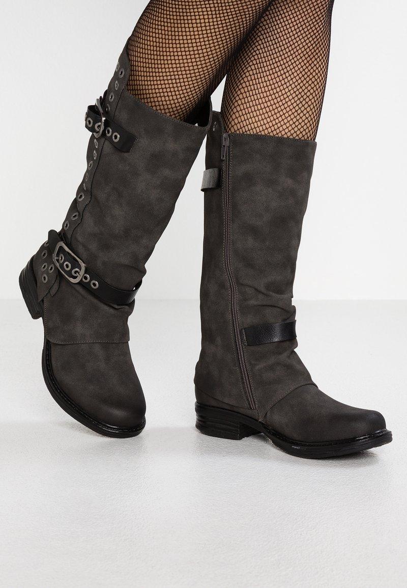 Coolway - GISELE - Kovbojské/motorkářské boty - grey