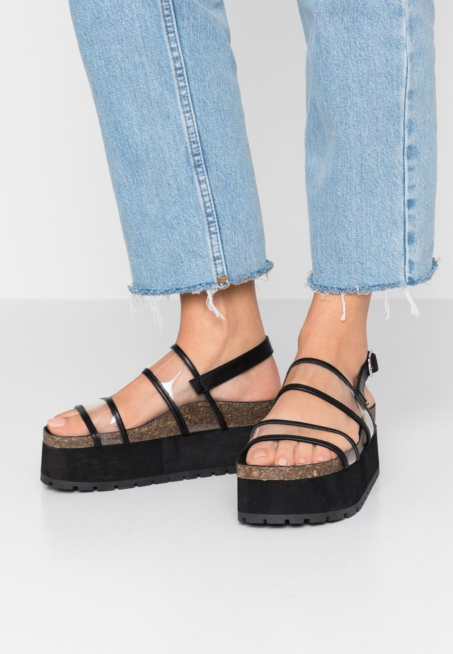 BRIGIT - Platform sandals - black