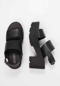 Coolway - JALLY - Platform sandals - black - 3